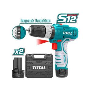 12V Li ion 1.5Ah 20Nm Cordless Drill Impact Wrench Total Brand TIDLI1232 MR Enterprise
